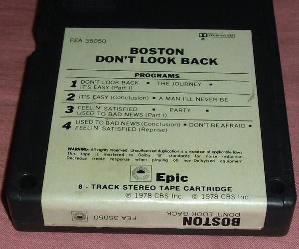◆8トラック(8トラ)◆ボストン [DON'T LOOK BACK]◆_画像3