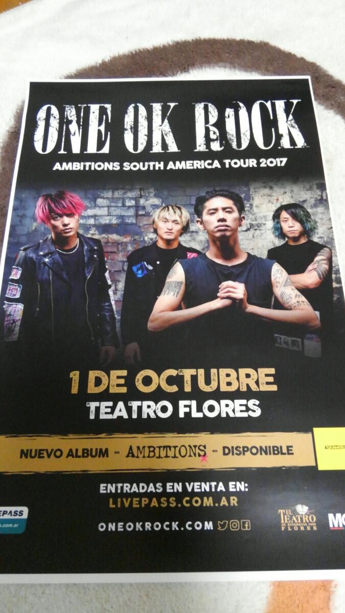 【新品】 one ok rock Ambitions 2017 world tour ポスター 南米ツアー ブエノスアイレス