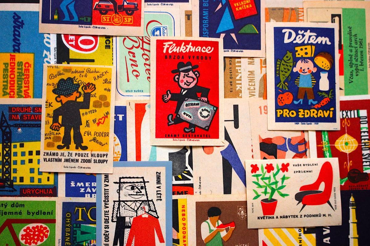 チェコの古いマッチラベル30枚セット02/ヴィンテージ 紙物 ヨーロッパ ヨーロッパ雑貨 ラッピング コラージュ ハンドメイド 人 美品 /