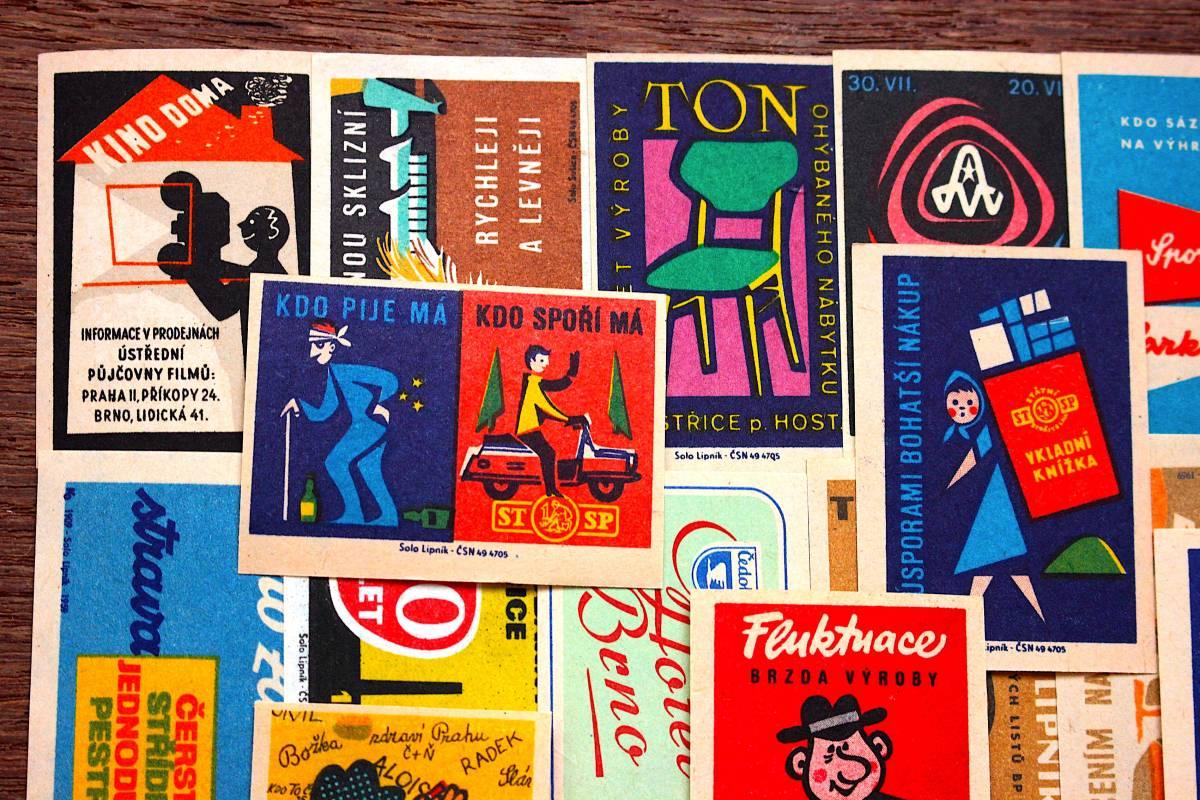 チェコの古いマッチラベル30枚セット02/ヴィンテージ 紙物 ヨーロッパ ヨーロッパ雑貨 ラッピング コラージュ ハンドメイド 人 美品 /_画像2