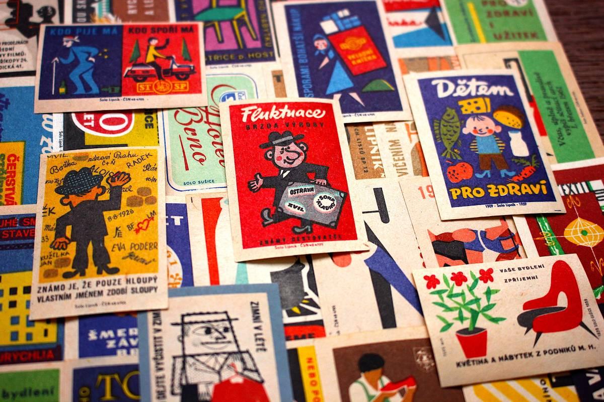 チェコの古いマッチラベル30枚セット02/ヴィンテージ 紙物 ヨーロッパ ヨーロッパ雑貨 ラッピング コラージュ ハンドメイド 人 美品 /_画像4