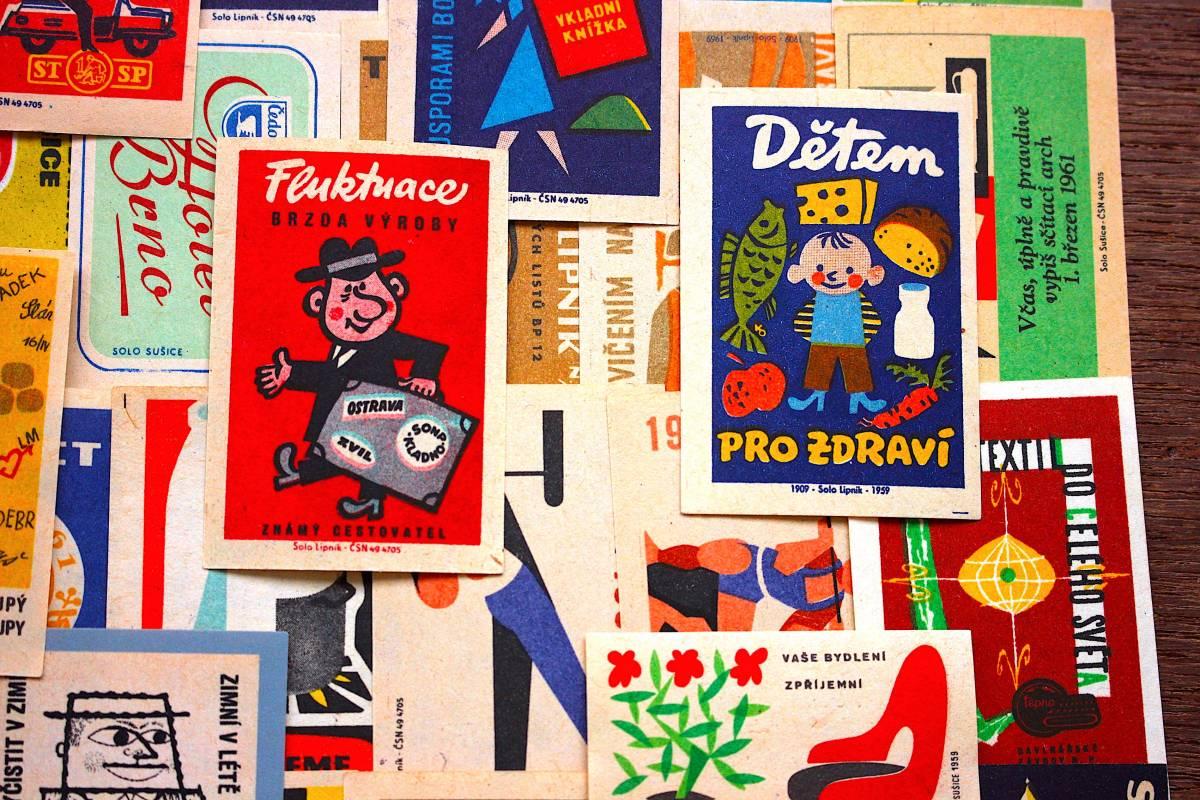 チェコの古いマッチラベル30枚セット02/ヴィンテージ 紙物 ヨーロッパ ヨーロッパ雑貨 ラッピング コラージュ ハンドメイド 人 美品 /_画像3