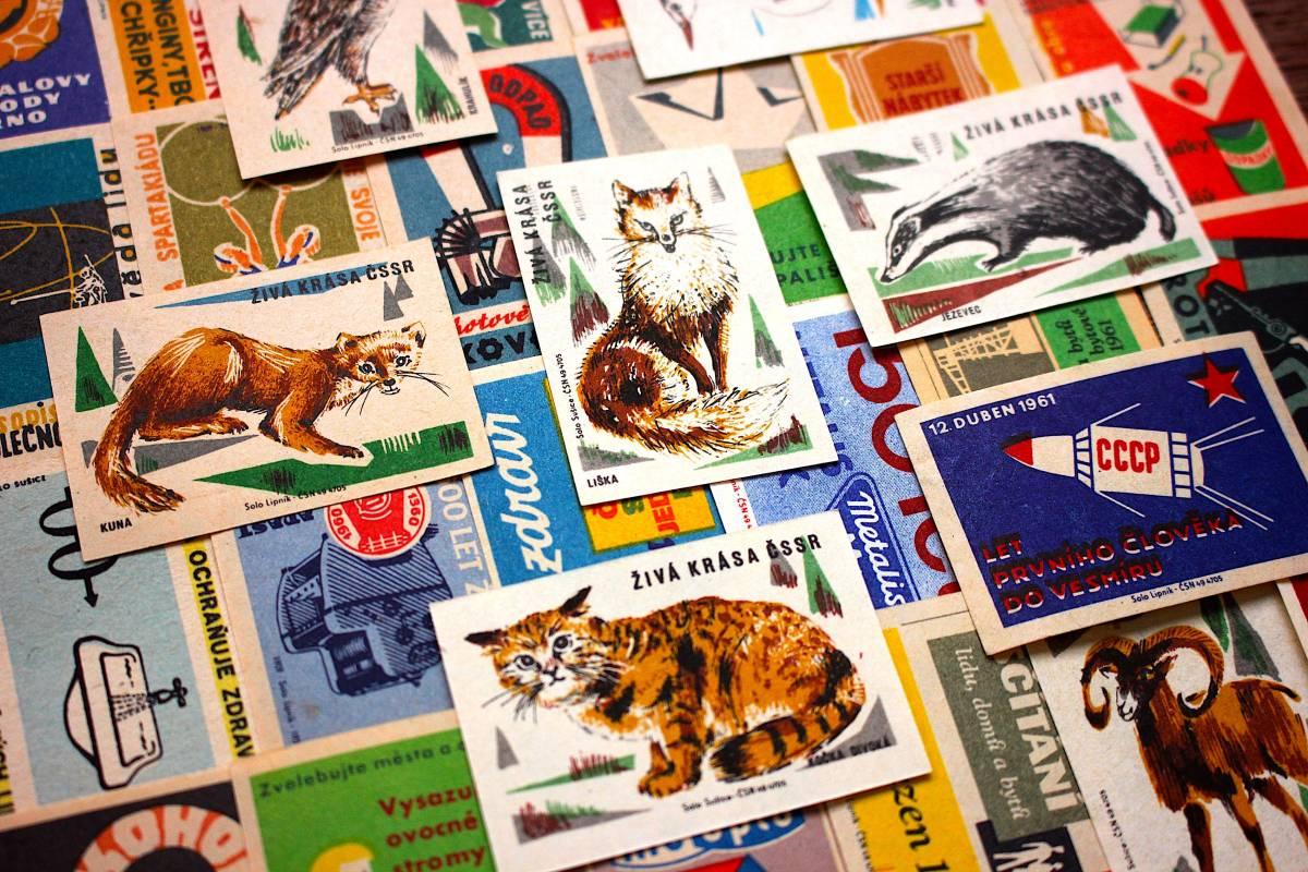 チェコの古いマッチラベル30枚セット03/ヴィンテージ 紙物 ヨーロッパ ヨーロッパ雑貨 ラッピング コラージュ ハンドメイド 動物 美品 /_画像4