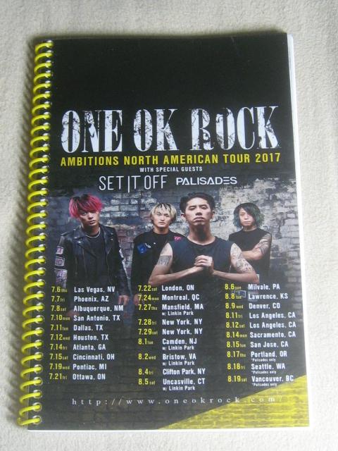 ★ONE OK ROCK ワンオクロック 2017 AMBITIONS 北米ツアー・メンバー&スタッフ専用ツアーブック