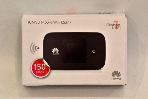 美品★Huawei SIMフリー LTE対応 モバイルルーター Mobile WiFi E5377 ブラック E5377s-327