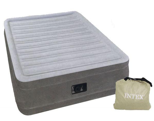 未使用★INTEX(インテックス) エアーベッド ツインコンフォート シングルサイズ 電動式 グレー 64411