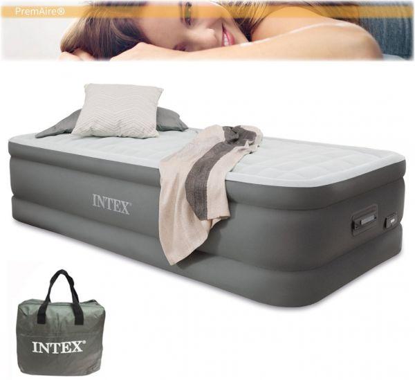未使用★INTEX PremAire DX インテックス プレムエアー デラックス シングルサイズ  64481J  充電用USBコネクター LEDパネル