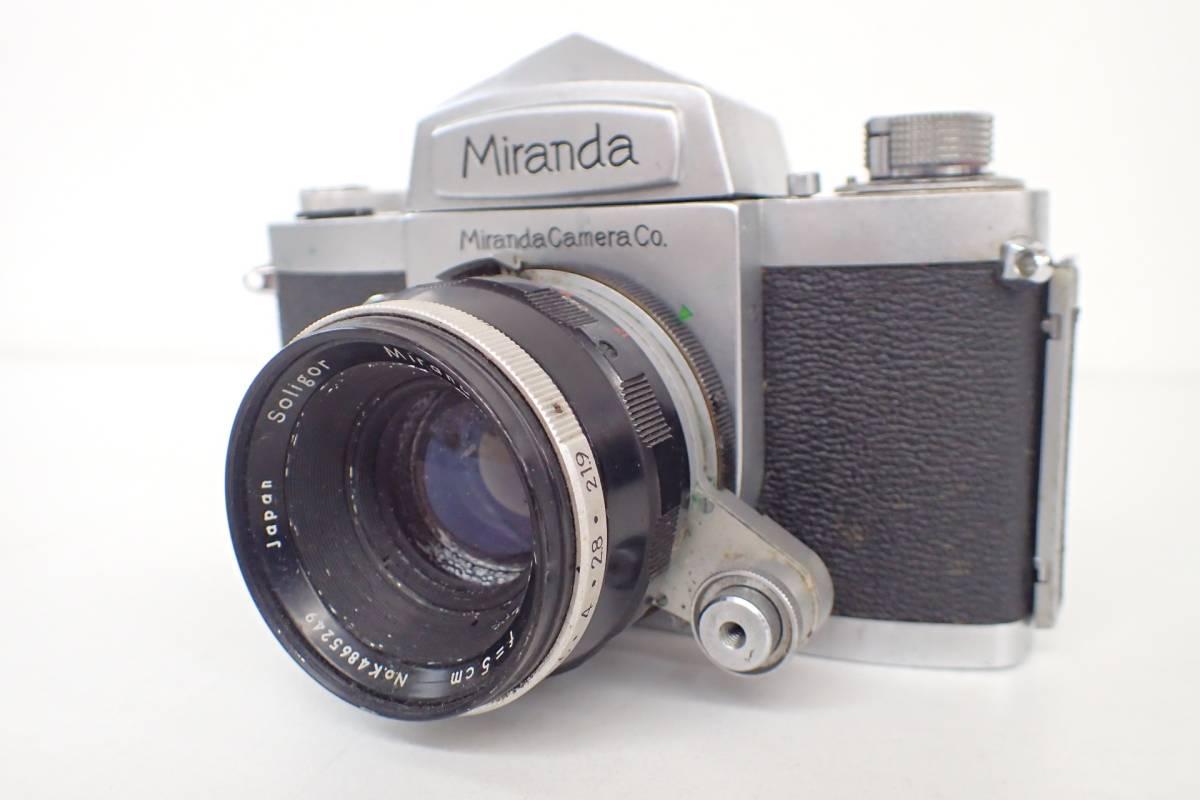 1565管09M12 miranda カメラ レンズ ミランダ NO.655394 シルバーボディ 希少 ジャンク_画像2