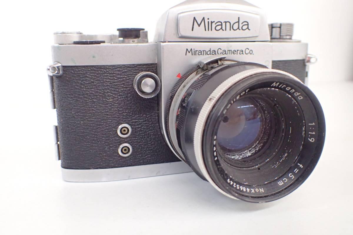 1565管09M12 miranda カメラ レンズ ミランダ NO.655394 シルバーボディ 希少 ジャンク_画像3
