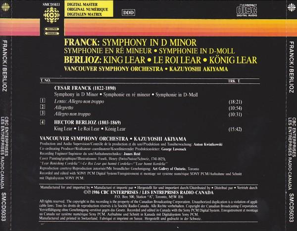 【入手難】秋山和慶&バンクーバー響/フランク:交響曲、ベルリオーズ:序曲「リア王」_画像2