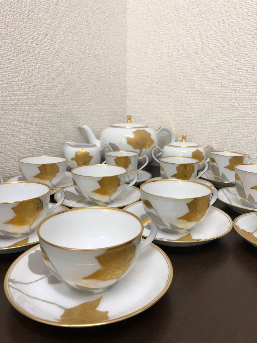 大蔵陶園 金蝕バラ 27点セット 総額¥366120円分 美品 カップ&ソーサー ティーポ