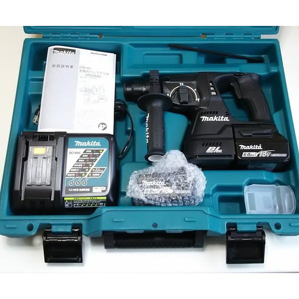 マキタ HR244DRGXB ハンマドリル 24ミリ 充電式 黒 (バッテリー・充電器・ケース付)