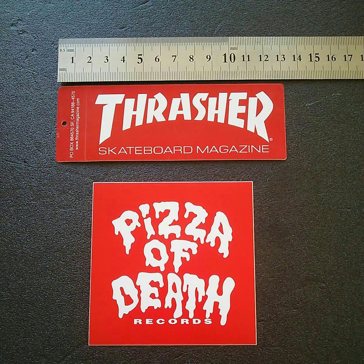 送料無料! 正規・非売品!PIZZA OF DEATH・THRASHER ステッカーset HI-STANDARD 横山健 WANIMA ハイスタ KEN YOKOYAMA スラッシャー