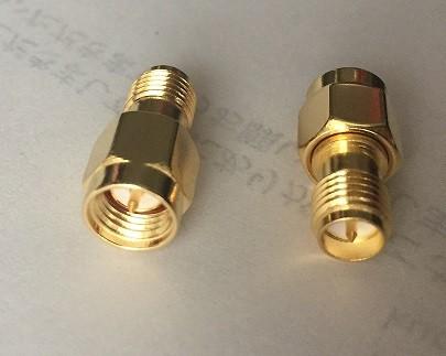 SMAオスプラグ   RP-SMAメスプラグ RF同軸端子コネクター変換器 Baofeng アンテナ用変換器_画像1