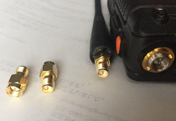 SMAオスプラグ   RP-SMAメスプラグ RF同軸端子コネクター変換器 Baofeng アンテナ用変換器_画像3