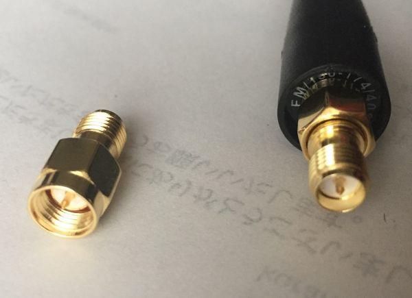 SMAオスプラグ   RP-SMAメスプラグ RF同軸端子コネクター変換器 Baofeng アンテナ用変換器_画像2