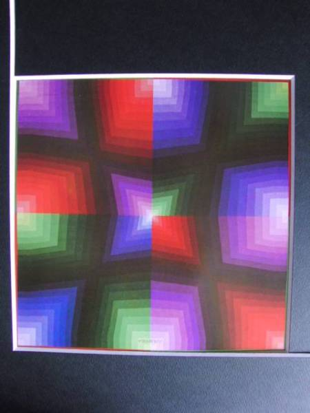 VASARELY、パウク-101、希少画集画、新品額装付、y321_画像3