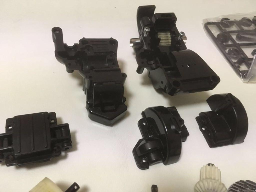 年代物希少 タミヤ TA01 TA02系 中古 シャーシパーツ レストア余り品 トルクスプリッター・強化シャフト等ジャンク トップフォースなどに_画像9