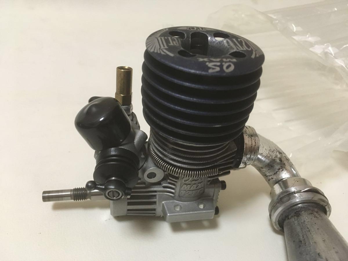 OS 12TG Ver.Ⅱ O.S.SPEED T-1060 マフラー付属 12エンジン R4 MTX NT1 SERPENT 748等のGPツーリングカーに ジャンク_画像4