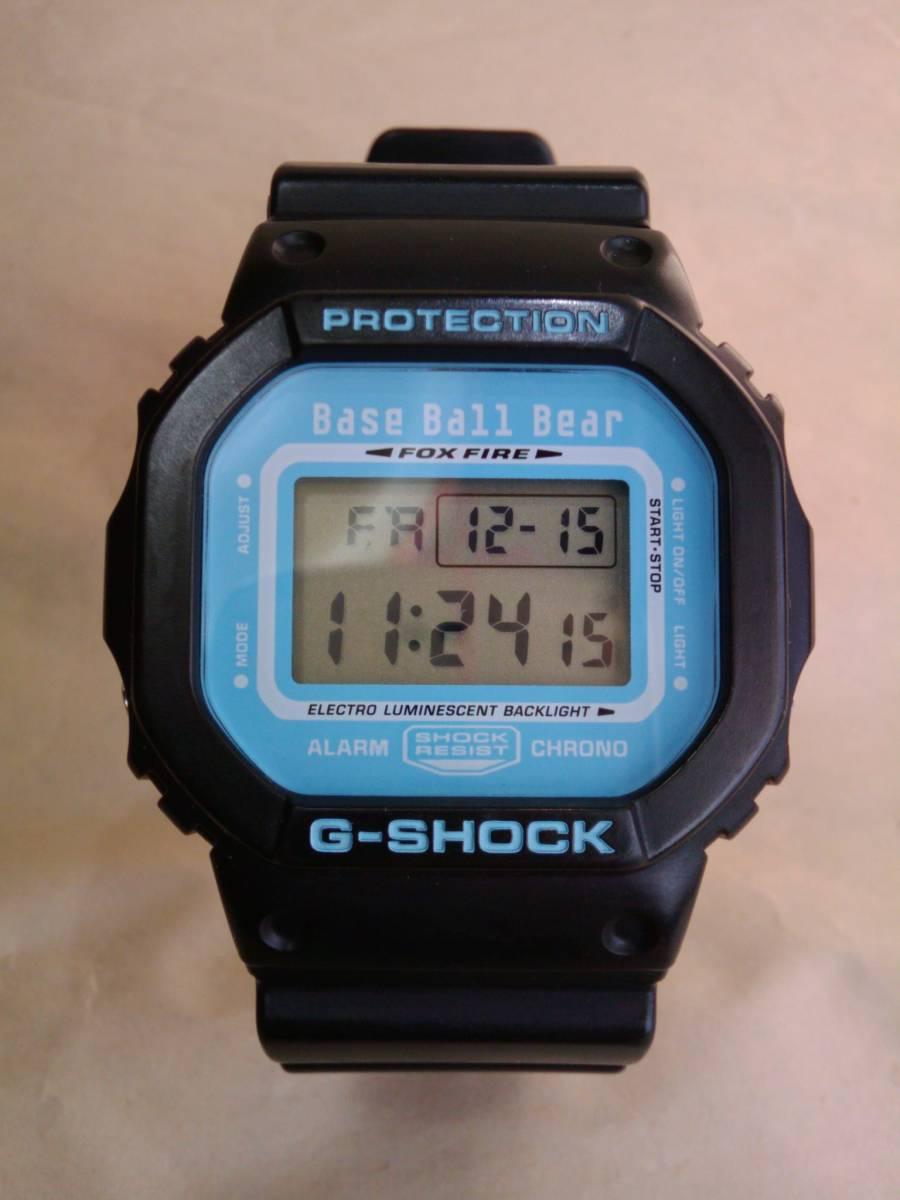 腕時計 BaseBallBear × G-SHOCK コラボ DW-5600VT ブラック×ブルー CASIO ベースボールベアー BBB ベボベ FM-TOKYO 限定 十字架 レア