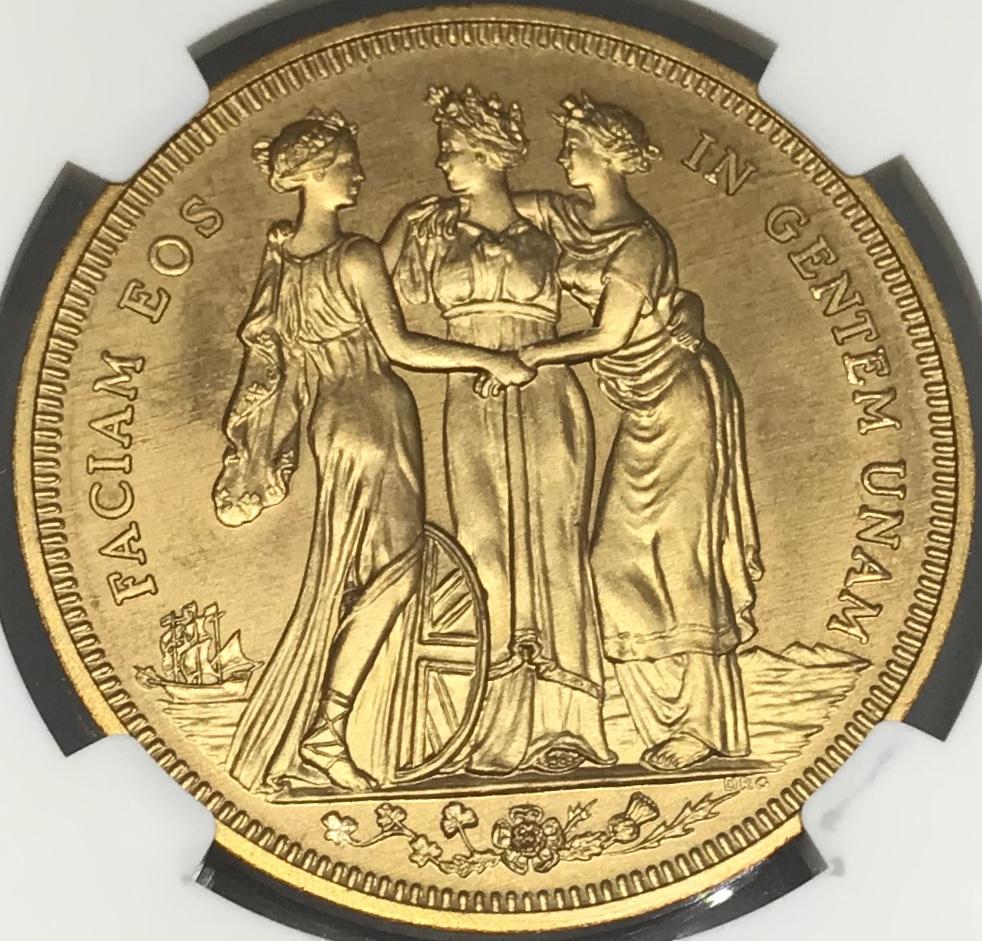 【大特価セール】世界で一枚 1911年 ジョージ5世 三美神 スリーグレイセス FANTASY クラウンプルーフ銅貨NGC PF68RDアンティークコイン