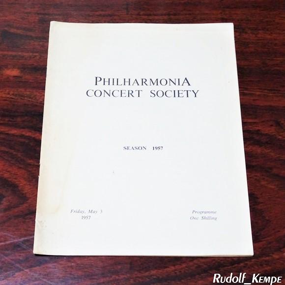 【プログラム】 「1957年5月3日 フィルハーモニア・コンサート」 オーセ・ノルモ・レーヴベリ ルドルフ・ケンペ