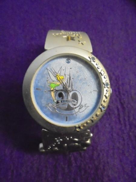 中古/東京ディズニーランド 20周年/ティンカーベル文字盤/ミッキー/クウォーツ腕時計/TDRTDLTDS_画像1