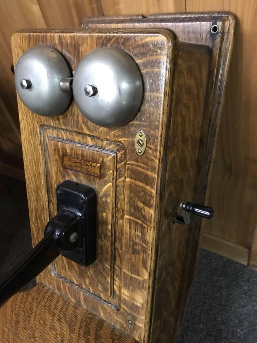 ヴィンテージ!! レア!! アンティーク 電話機 Vintage Western Electric 壁電話_画像3
