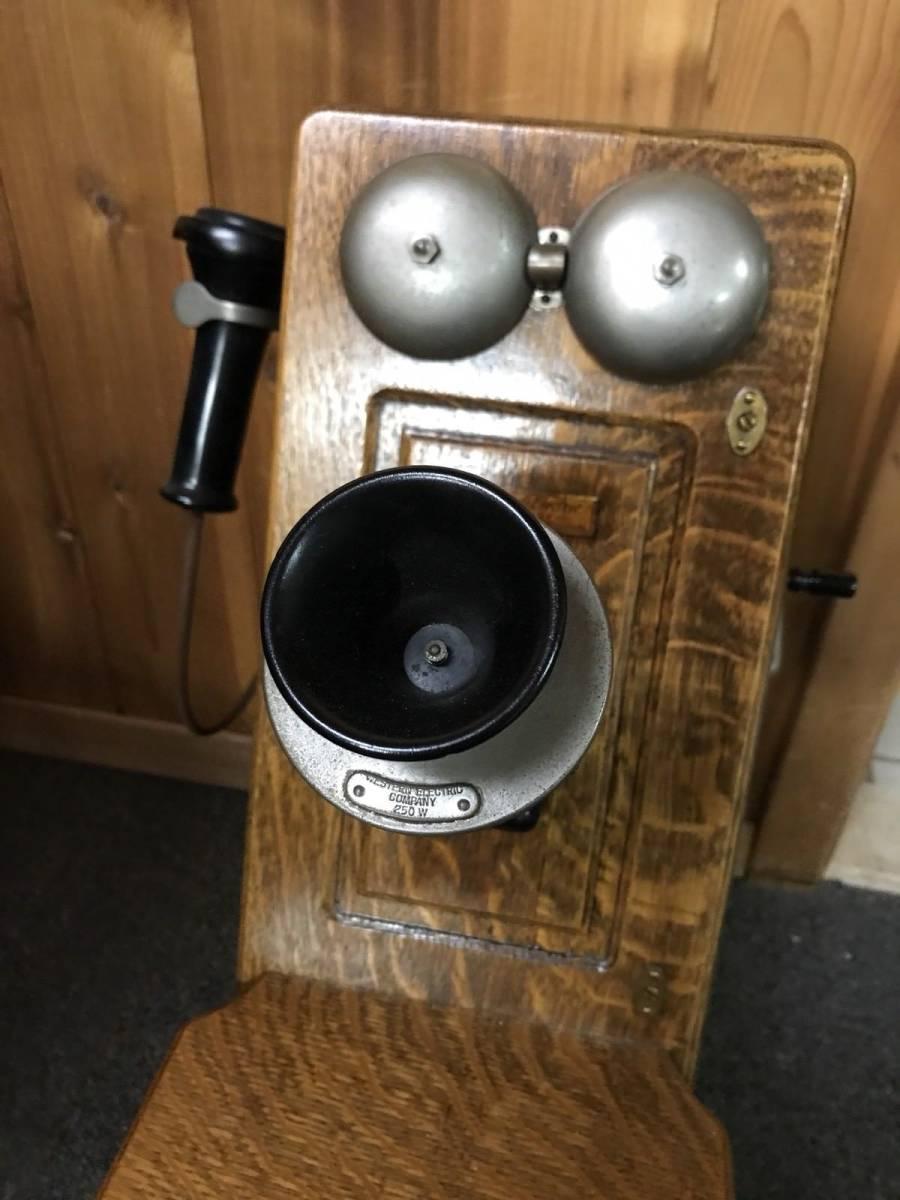 ヴィンテージ!! レア!! アンティーク 電話機 Vintage Western Electric 壁電話_画像2