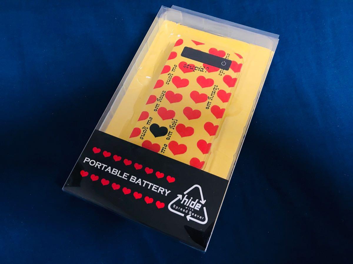 新品 レモネード hide モバイルバッテリー イエローハート X JAPAN 激レア