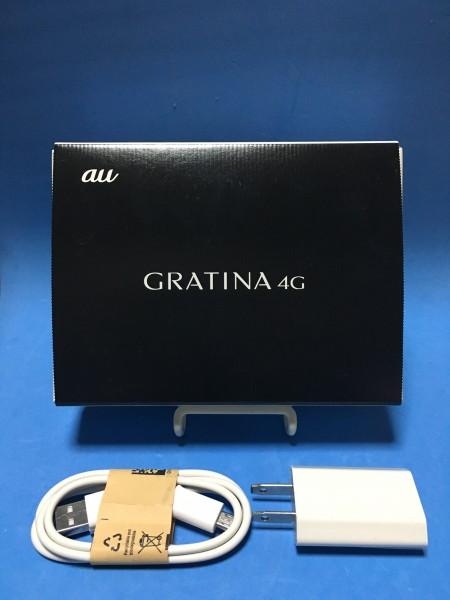 未使用新品 SIMロック解除済 au GRATINA 4G KYF31 SIMフリー ブラック 未使用品 おまけ付き 送料無料 C