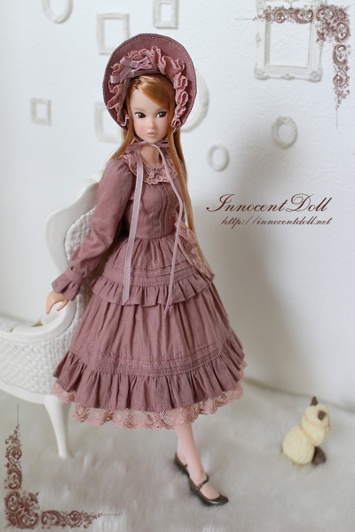 "1/6 scale doll dress""Classical Lolita(Old Rose)"""