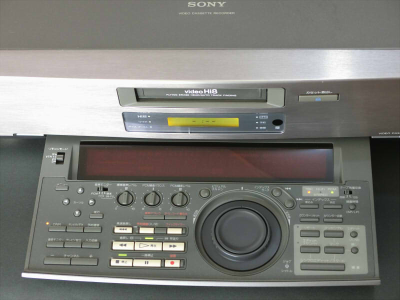 SONY EV-NS9000 Hi8 ジャンク 説明書、リモコン付き_画像2