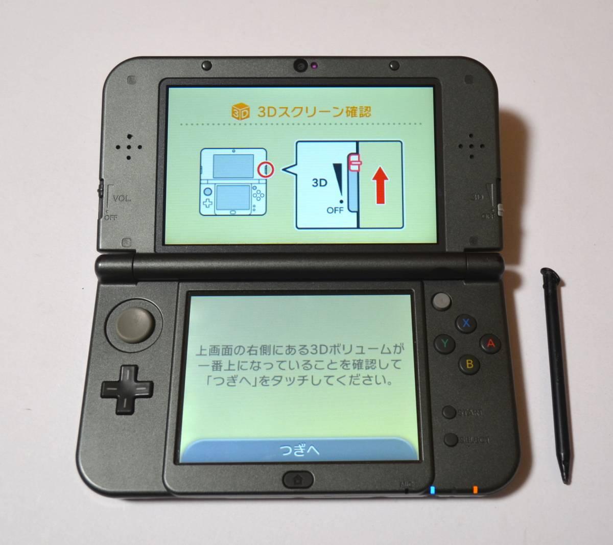 【中古】Newニンテンドー 3DS LL メタリックブラック 動作確認 即決 送料594円から 管理