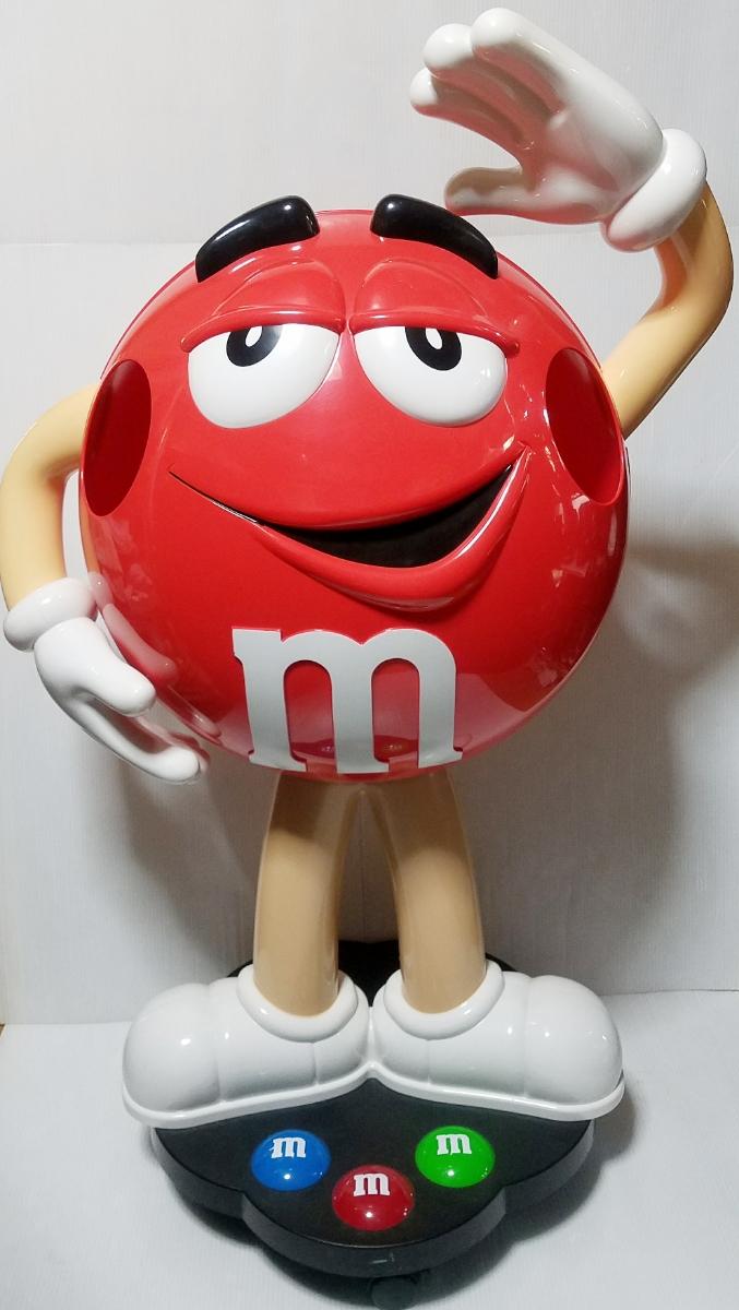 【引き取り限定】M&M's エムアンドエムズ 店頭ディスプレイ レッド 赤 販促品 アメリカン雑貨 インテリア 約100㎝ BIGサイズ キャラクター_画像1