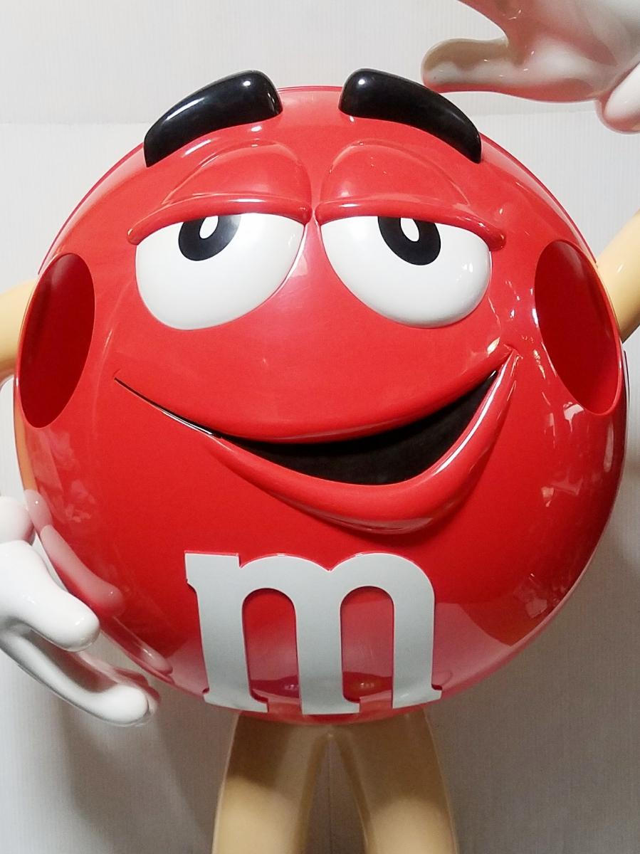 【引き取り限定】M&M's エムアンドエムズ 店頭ディスプレイ レッド 赤 販促品 アメリカン雑貨 インテリア 約100㎝ BIGサイズ キャラクター_画像3