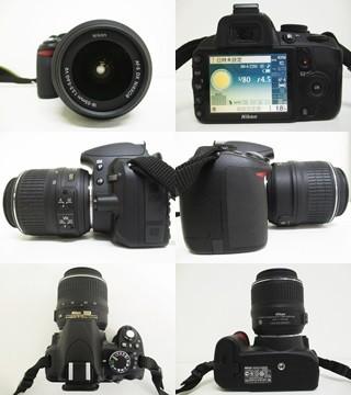 h032▼80▼NIKON ニコン D3100 カメラ/AF-S DX NIKKOR 18-55mm 1:3.5-5.6G/50-200mm 1:4-5.6G ED レンズ 他 セット_画像2