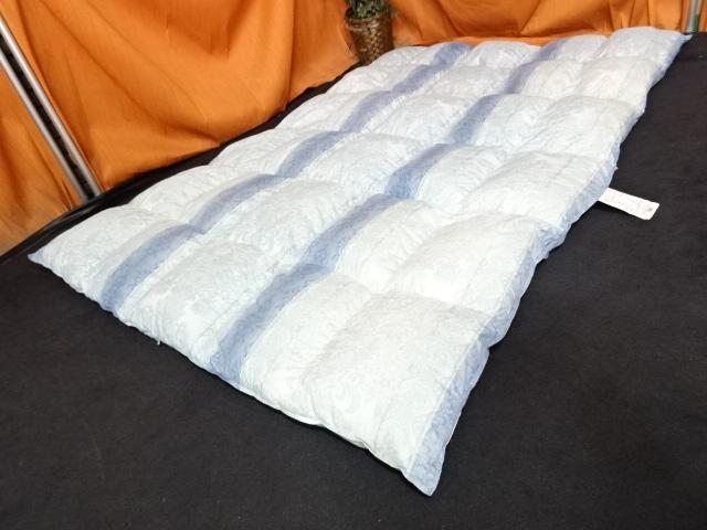 送料無料 西川 ハンガリー産ホワイトグース 羽毛布団 シングルサイズ 展示品