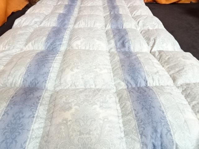 送料無料 西川 ハンガリー産ホワイトグース 羽毛布団 シングルサイズ 展示品_画像8