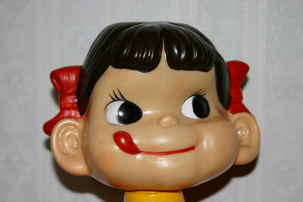 レア  不二家 ミルキー 首振りペコちゃん人形 約47cm_画像4