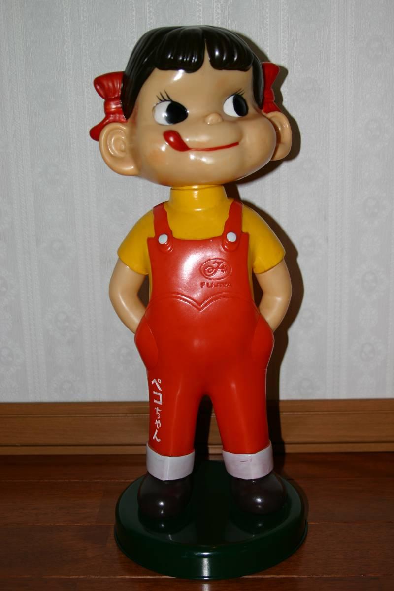 レア  不二家 ミルキー 首振りペコちゃん人形 約47cm_画像10