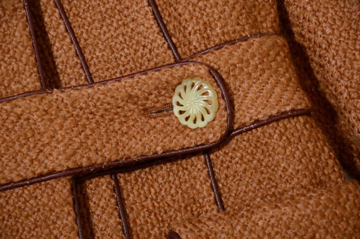 ミナペルホネン wafers パイピングデザイン モヘヤ混 ツイードロングコート 2点以上ご落札で送料無料!_画像8