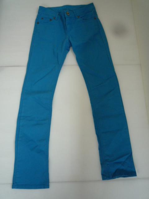 【値下げ!】 ◆Vosch Jeans◆ カラーパンツ ターコイズブルー ウェスト:64 レディース