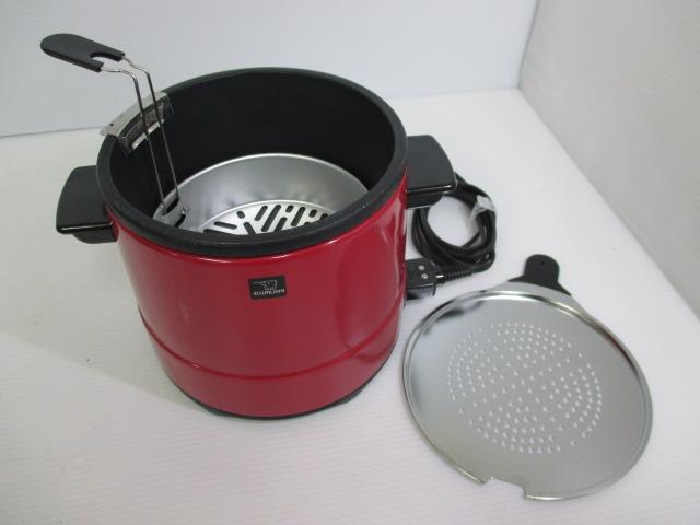 【簡単卓上調理!】 ★ ZOJIRUSHI / 象印 ★ 電気フライヤー CTA-1000型 赤