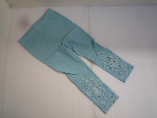 【お得!!】◆カレイ/Karei◆ デザインパンツ 水色系 装飾 7分丈 レディース_画像1