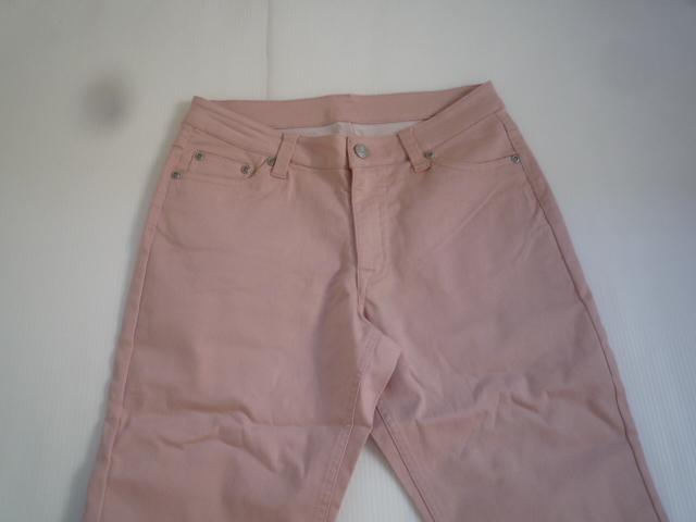 【お買い得!】 ◆ カラーパンツ ◆ ピンク 無地 レディース 67-93_画像2