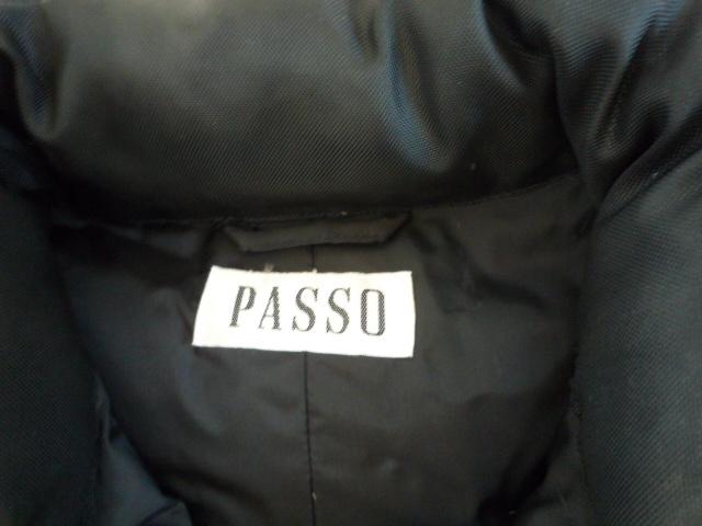 【お買い得!】 ◆ PASSO ◆ ダウンベスト 黒 M 無地 レディース_画像3