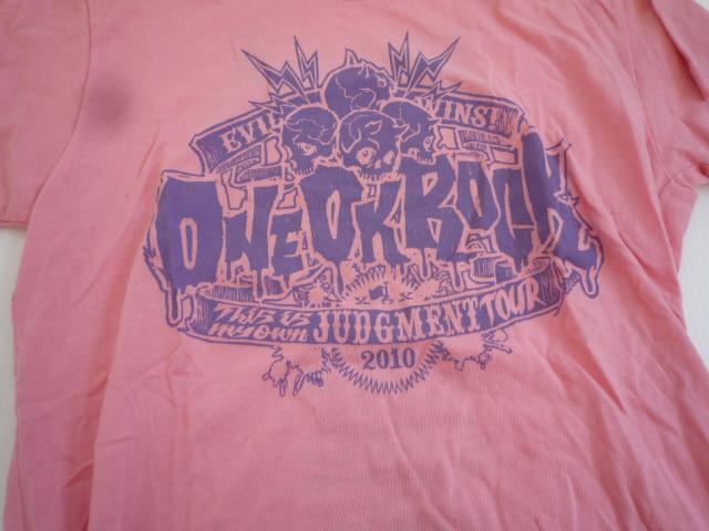 【お買い得!】 ★ ワンオクロック / ONEOKROCK ★ 半袖Tシャツ S ピンク系 アーティスト_画像3