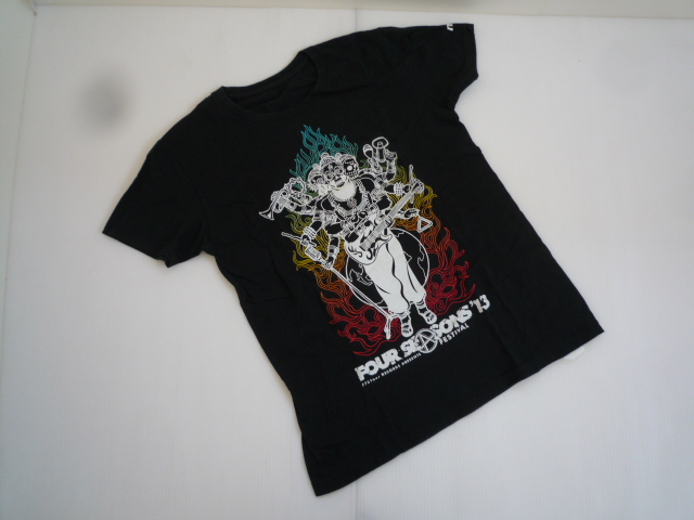 【お買い得!】 ★ FOVR SEASONS FESTIVAL'13 ★ 半袖Tシャツ 黒 ライブ S