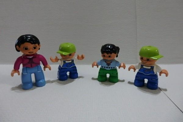 #262 レゴデュプロ ブロック 人形 子供・男の子・女の子などまとめて #パーツ フィグ_画像1